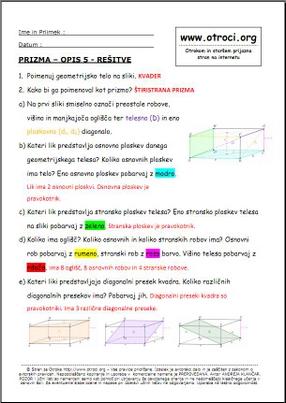 >> Učni listi E- verzije >> Matematika za 9. razred - E verzija